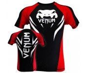 Рашгард Venum Electron 2.0 Rashguard - Black - Short Sleeves